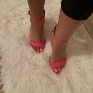 Shoes - Snake Skin Pink heels